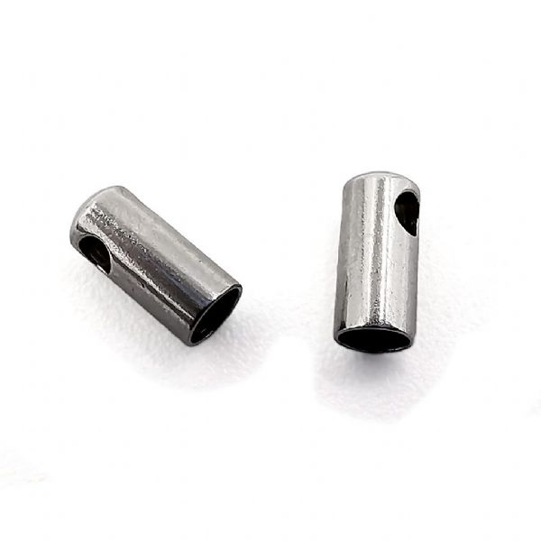 Stainless Steel Barrel End Cap 2mm x 20 pcs